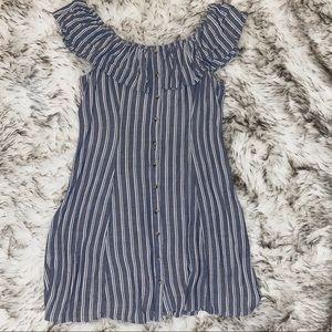 Ash Blue American Eagle Adjustable Shoulder Dress